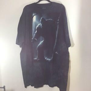 The Mountain navy blue Big Foot T shirt